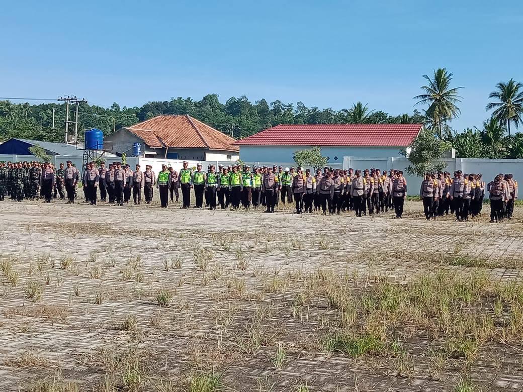 Apel Gabungan Kesiapsiagaan Kunjungan Kerja Wakil Presiden RI K.H Maruf Amin di Kabupaten Pringsewu