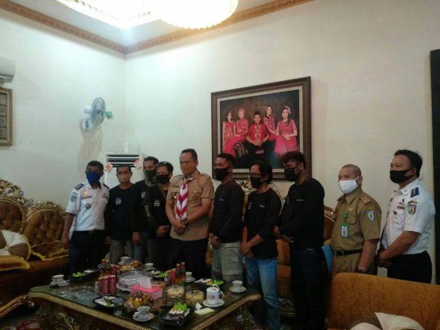 KBOP Keluarga Besar Ojek Online Pringsewu Beraudiensi dengan Wakil Bupati Pringsewu