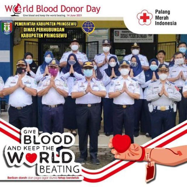 Dalam rangka berpartisipasi hari donor darah sedunia 14 Juni 2021,
