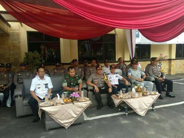Mewakili Bupati Menghadiri Upacara Gelar Pasukan OPS Zebra Krakatau 2019 Polres Tanggamus