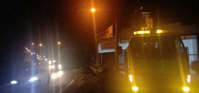 Perbaiki Lampu Jalan di Jalan Lintas Sumatera