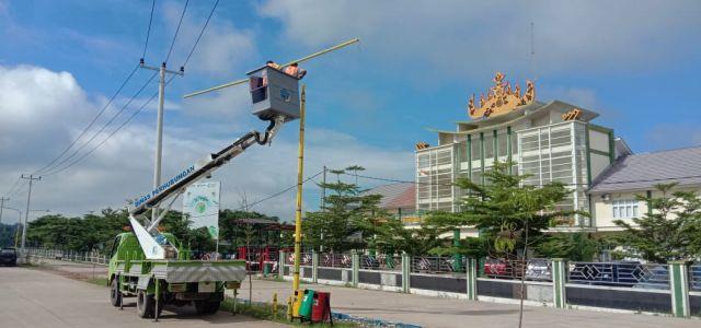 Lampu Jalan Islamic Center Pendukung MTQ