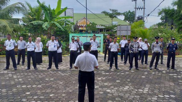Apel Pagi di lingkungan Dinas Perhubungan Kabupaten Pringsewu, Komplek Pemda Kabupaten Pringsewu Rabu, 19/02/2020.